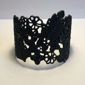 Floral Black Wrist Cuff